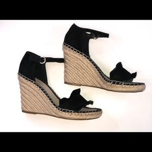 Marc Fisher black espadrille wedge NWOT